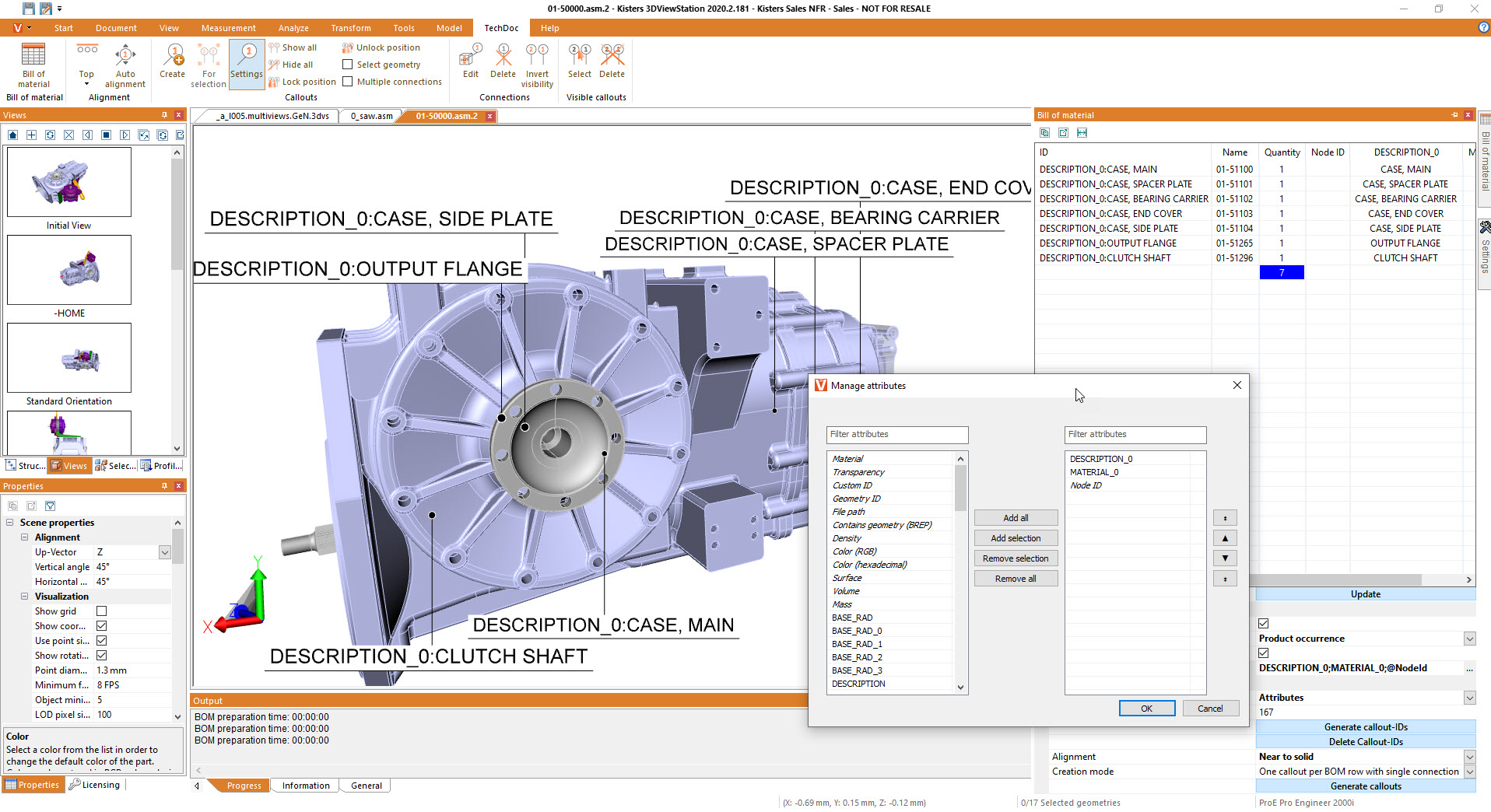 re-use attributes in BOM and for ballooning - authoring leveraging a 3D CAD viewer: 3DViewStation
