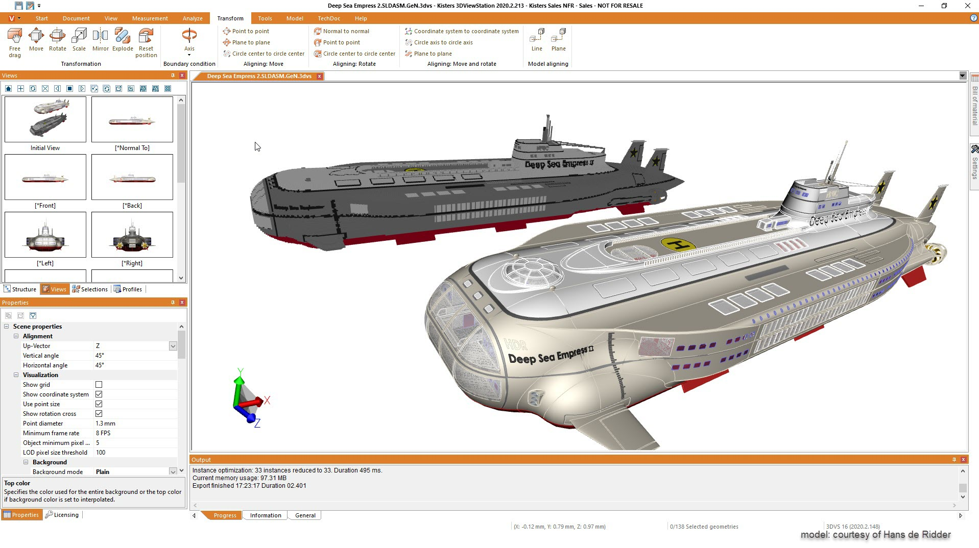 Gaming / gamer: create Minecraft files from 3D CAD models - submarine