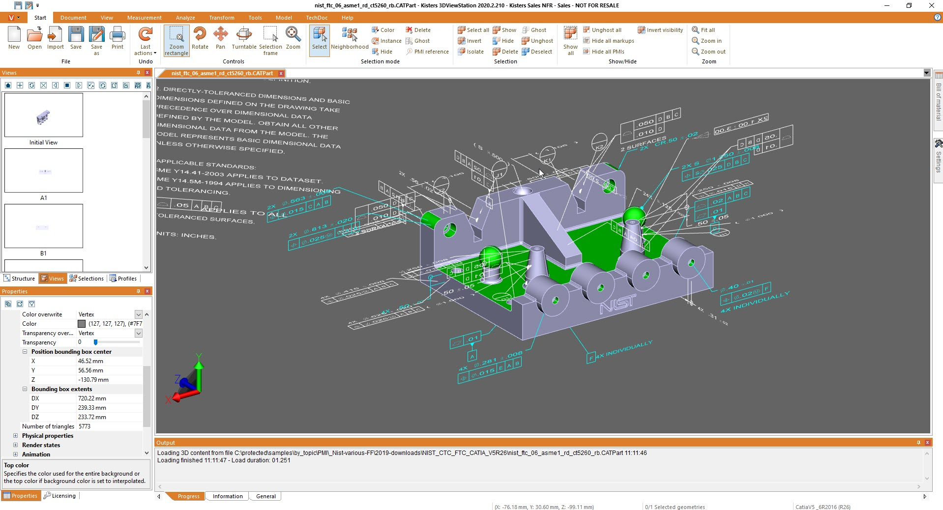 selection of multiple PMIs - 3D CAD viewer 3DViewStation